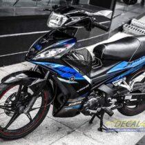 Tem xe Exciter 2009 - 2010 - Tem xe thiết kế Spark chrome xanh đen