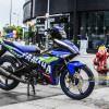 Tem xe Exciter 150 – 449 – Tem xe thiết kế Yamaha candy xanh GP