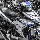 Tem xe Exciter 150 – 446 – Tem xe thiết kế Light nhôm xanh bạc