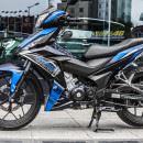 Tem xe Winner 150 – 331 – Tem xe thiết kế Pitpose nhôm xanh đen