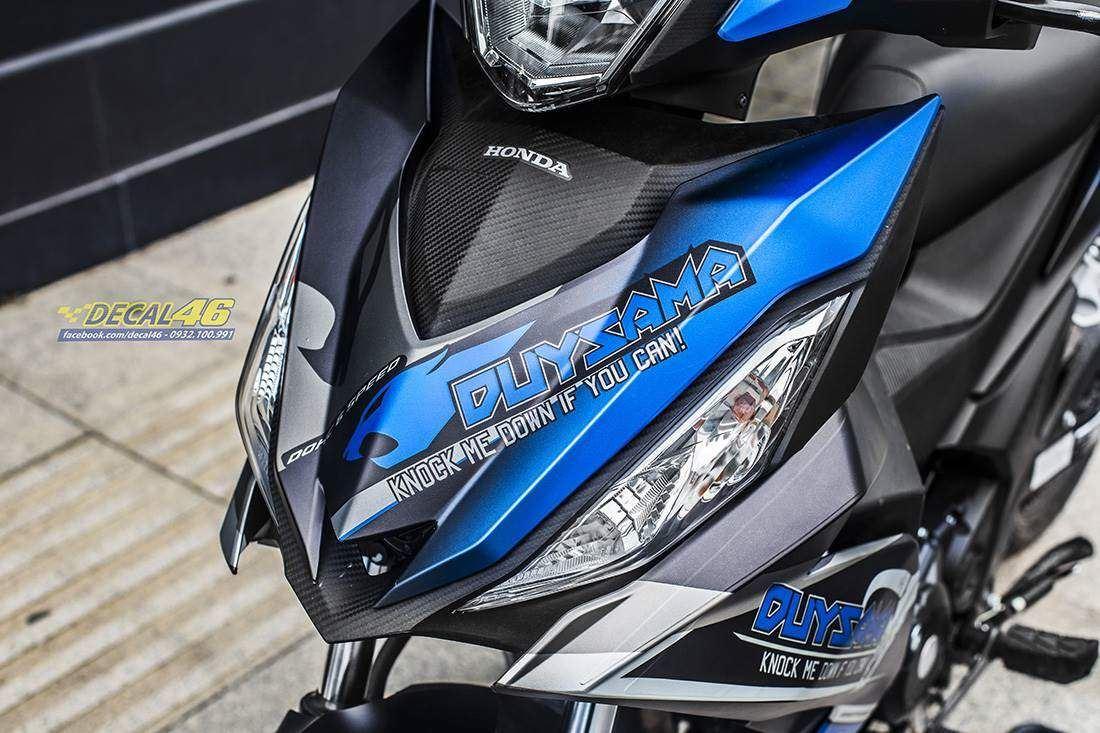 Tem xe Winner 150 - 331 - Tem xe thiết kế Pitpose nhôm xanh đen