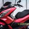 Tem xe PCX - 002 - Tem xe thiết kế Nhôm xước đỏ