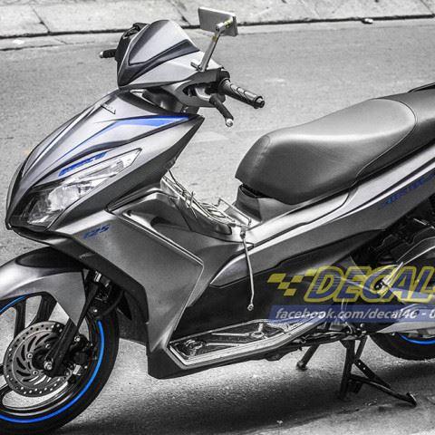 Tem xe Honda Airblade 125 - 055 - Tem xe thiết kế Nhôm xước