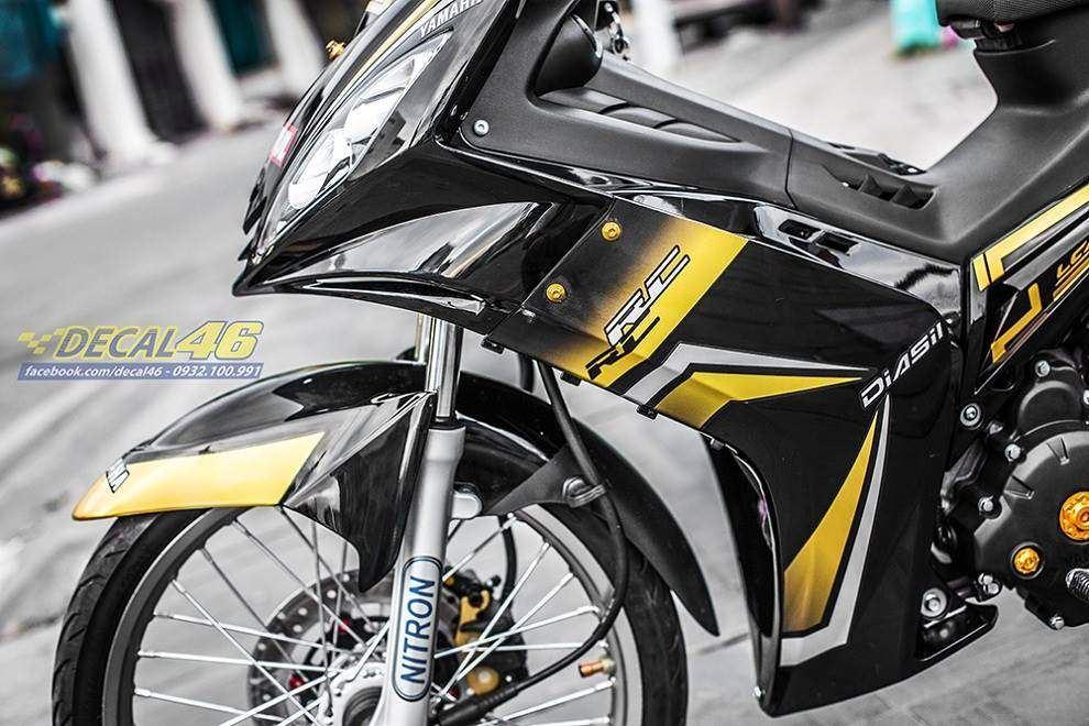 Tem xe Exciter 2009 - 2010 - Tem xe thiết kế Spark candy vàng đen