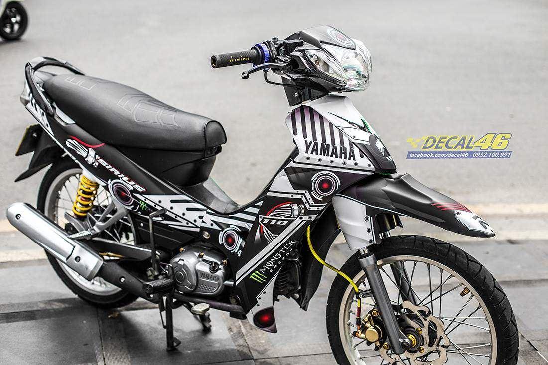 Tem xe Yamaha Sirius - 226 - Tem xe thiết kế Robot