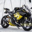 Tem xe PKL – Tem xe R125 thiết kế Yamaha vàng đen