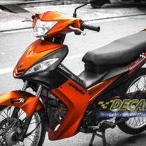 Tem xe Exciter 2009 - 2010 - Tem xe thiết kế Xước cam