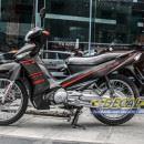 Tem xe Taurus Yamaha – Tem xe Taurus nhôm xước đen slider