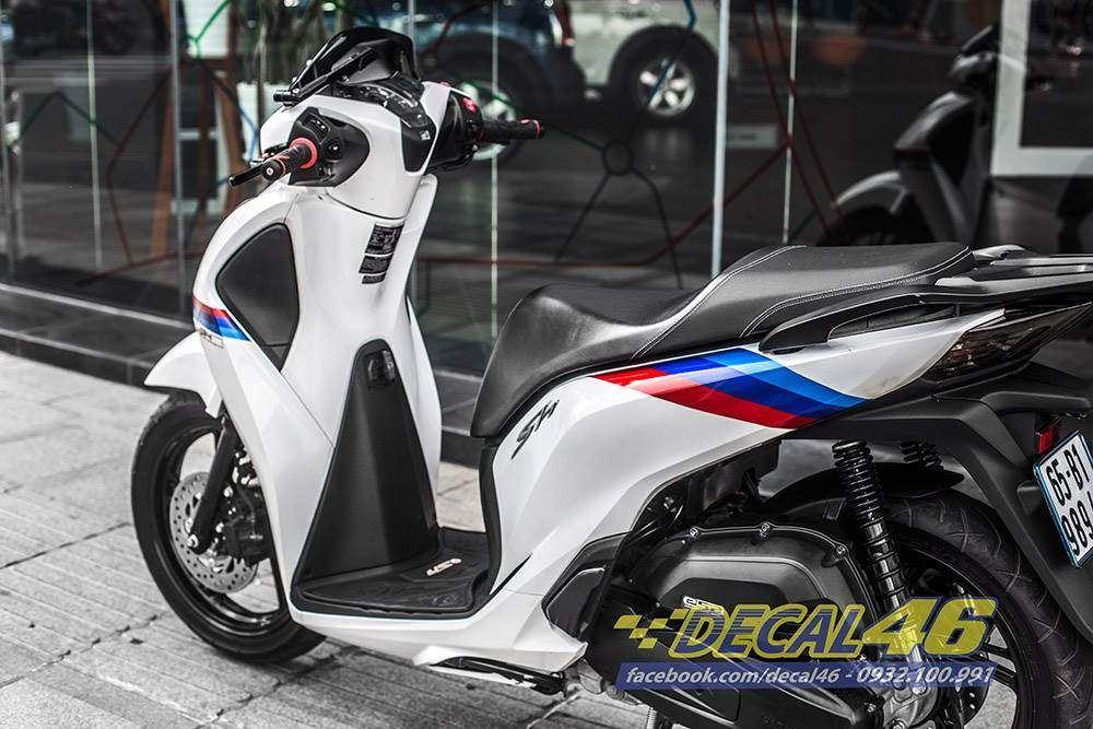 Tem xe Honda SH 150 Italia - Tem xe thiết kế BMW candy