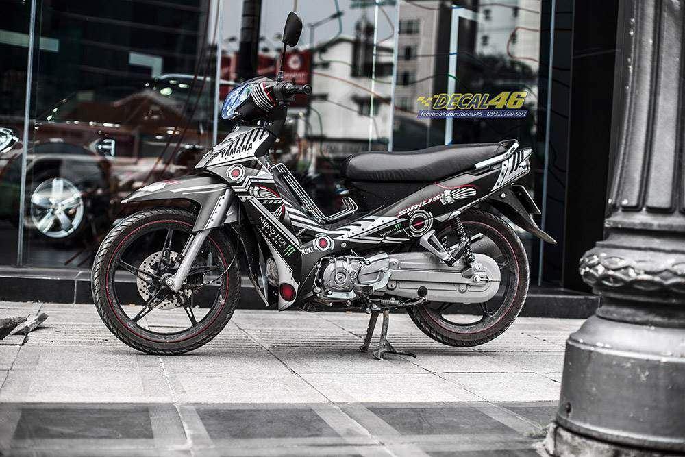 Tem xe Yamaha Sirius - 230 - Tem xe thiết kế Robot nhôm