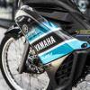 Tem xe exciter 135 Yamaha - Tem xe exciter 135 thiết kế kiểu Chrome xanh