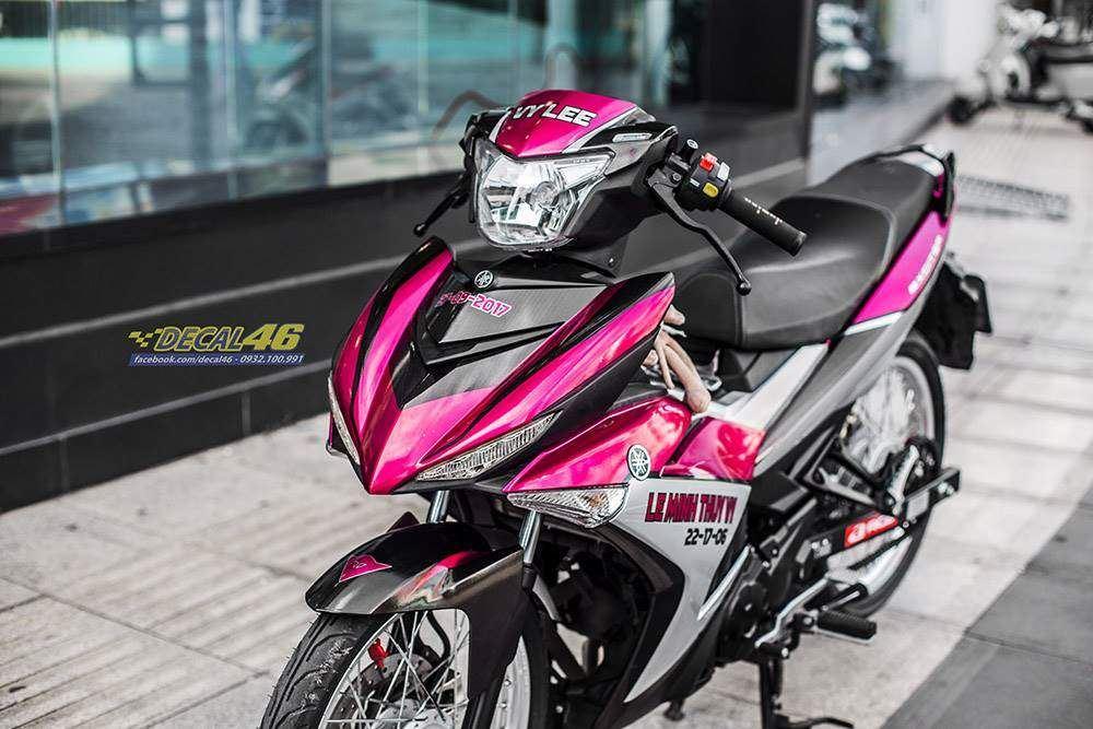 Tem xe Exciter 150 – 454 – Tem xe thiết kế hồng bạc candy