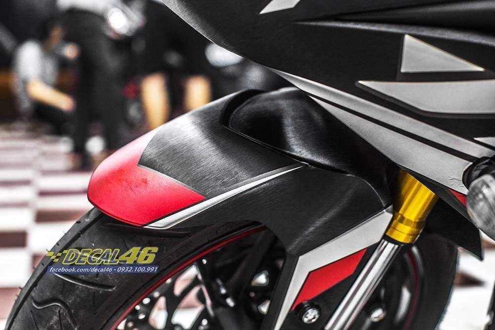 Tem xe R15 - 16 - Tem xe thiết kế Racing nhôm xước đen