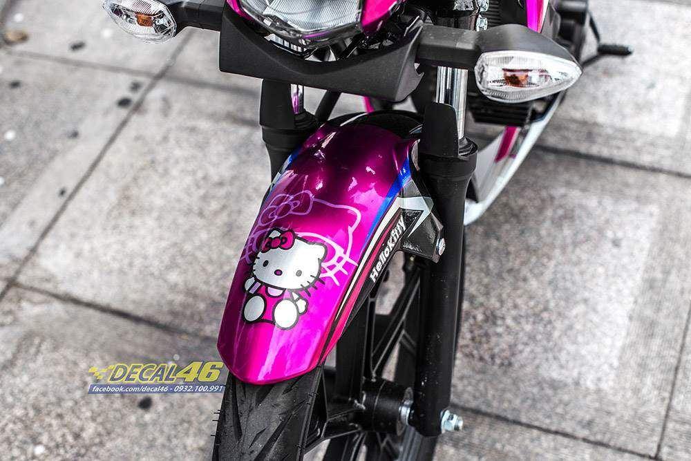 Tem xe Raider 150 - 064 - Tem xe thiết kế R150 Hello Kitty