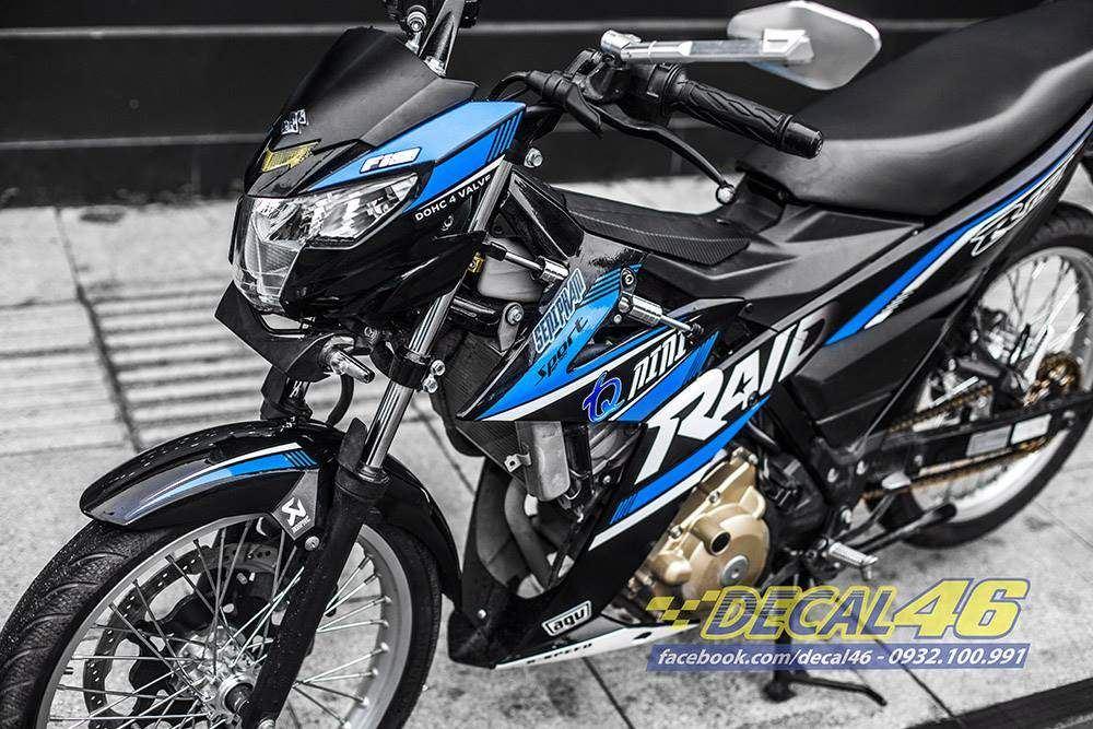 Tem xe Raider 150 - 065 - Tem xe thiết kế R150 Phản quang Racing