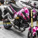 Tem xe MSX – Tem xe thiết kế Camo hồng Candy