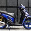 Tem xe Honda SH - Tem xe thiết kế monster xanh đen Candy
