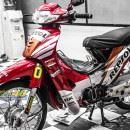 Tem xe Honda Wave – 017 – Tem xe thiết kế Repsol đỏ candy