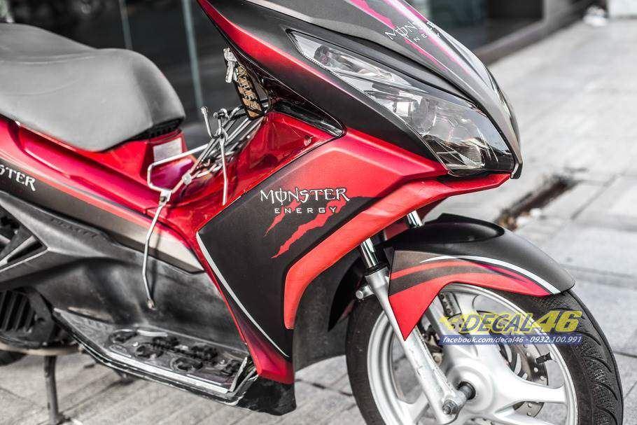 Tem xe Honda Airblade 125 - Tem xe thiết kế nhôm Monster