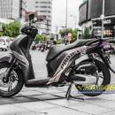 Tem xe Honda SH – Tem xe thiết kế Project nhôm xước