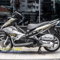 Tem xe Airblade 16 Honda - 079 - Tem xe Airblade 16 Proti đen bạc nhôm