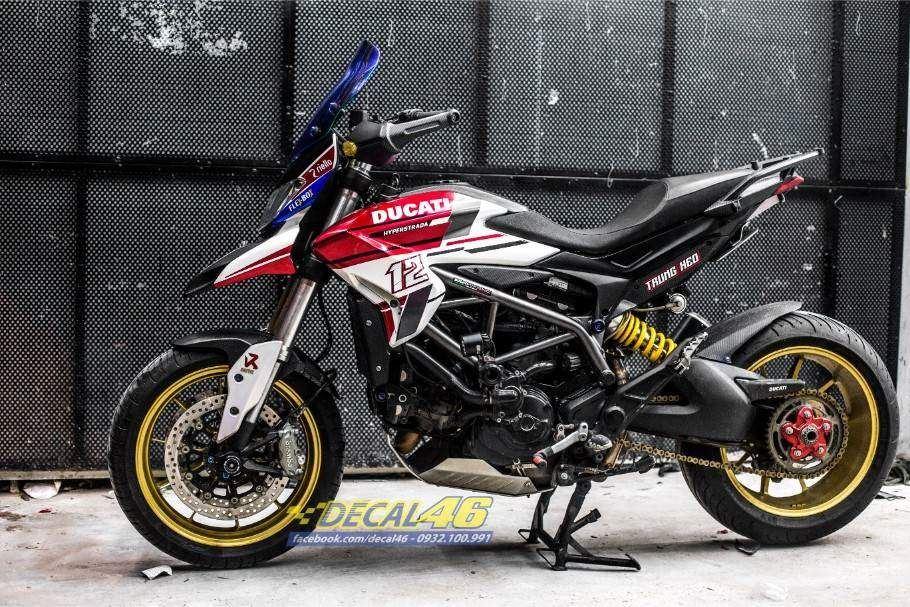 Tem xe PKL - Tem xe Ducati thiết kế Hypermotard ngọc trai
