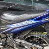 Tem xe Exciter 135 - Tem xe thiết kế nhôm xước Racing xanh bạc