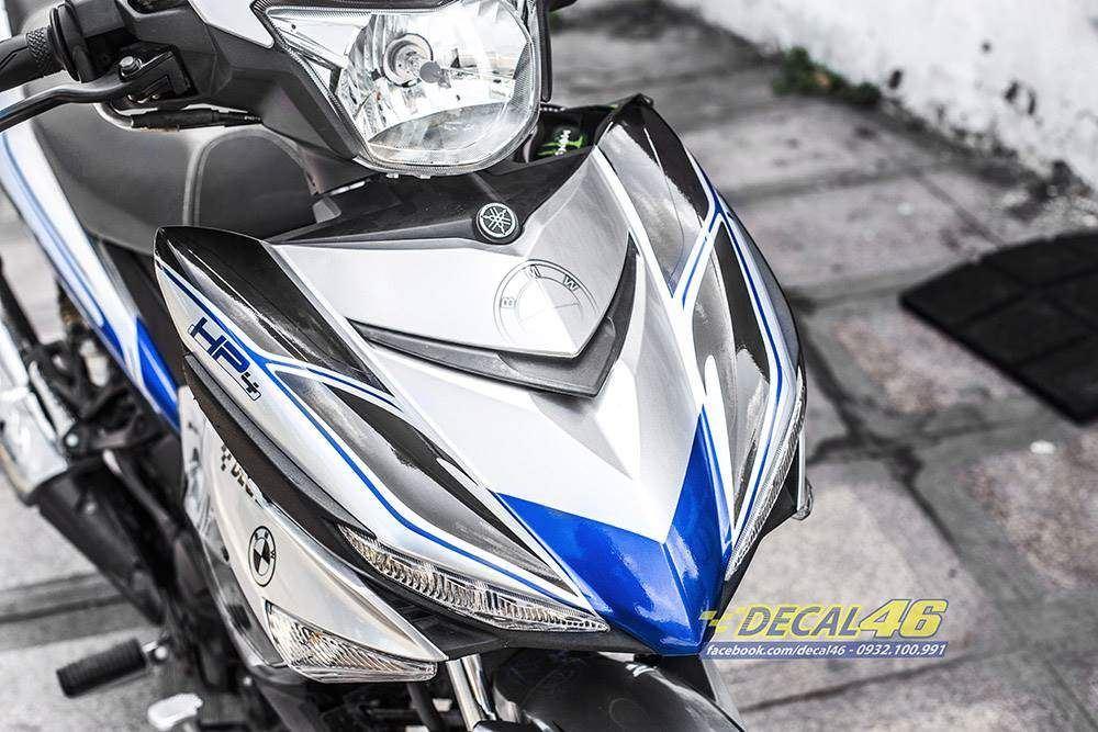 Tem xe Exciter 150 - 495 - Tem xe thiết kế HP4 candy xanh bạc
