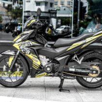 Tem xe Winner 150 - Tem xe Winner 150 thiết kế candy Tiger vàng đen