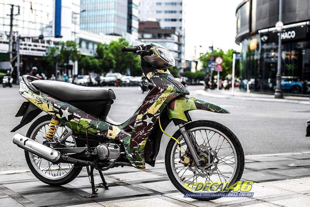 Tem xe Yamaha Sirius - 247 - Tem xe thiết kế Camo
