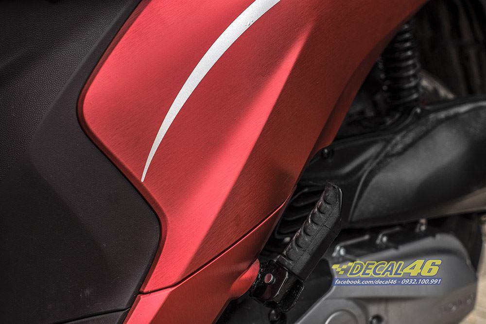 Tem xe Honda Vision - 004 - Tem xe thiết kế Đỏ xước