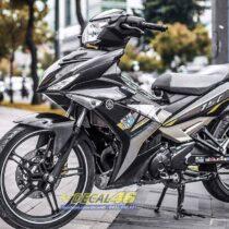 Tem xe Exciter 150 - 505 - Tem xe thiết kế YZ15 candy xám đen