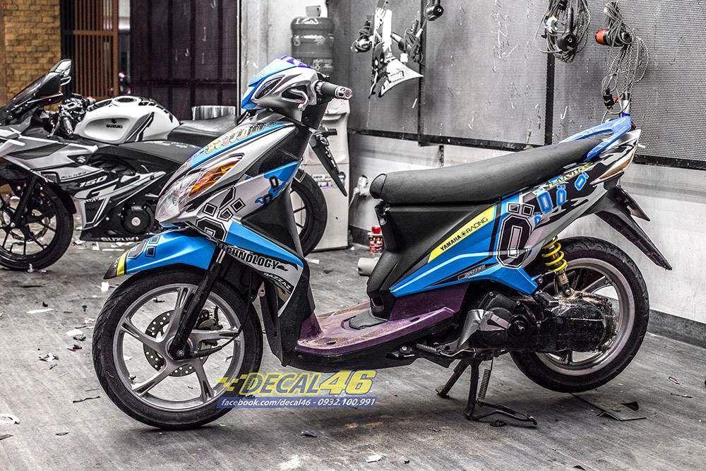 Tem xe Yamaha Luvias - Tem xe thiết kế Ohlins nhôm