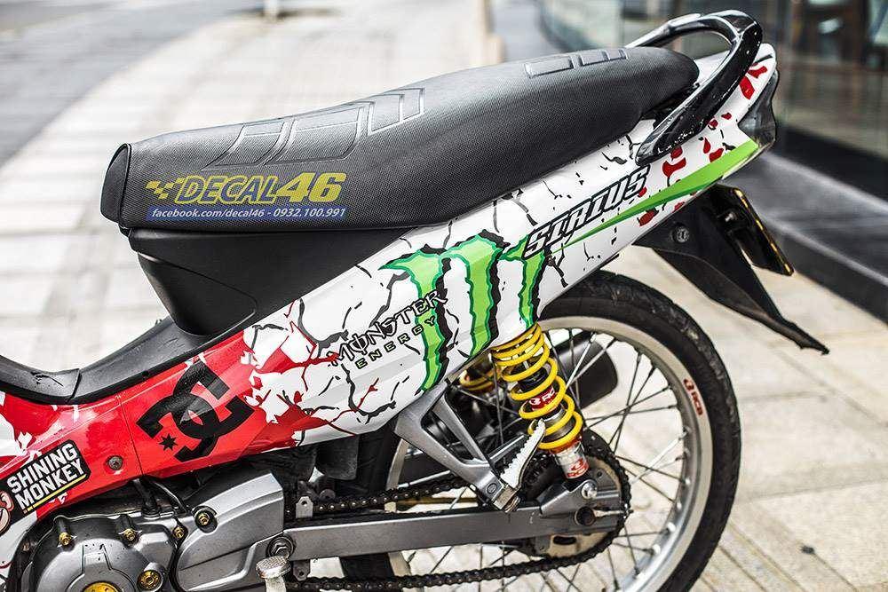 Tem xe Yamaha Sirius - 245 - Tem xe thiết kế Monster