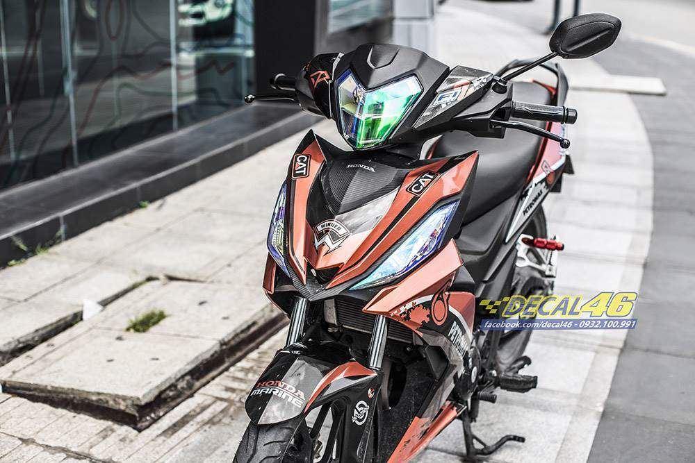 Tem xe Winner 150 - 390 - Tem xe Winner thiết kế Petronas candy cam đen