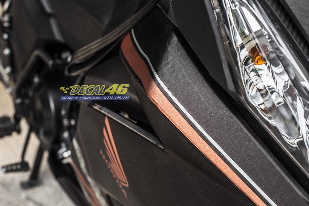 Tem xe Winner 150 - 389 - Tem xe Winner thiết kế Nhôm xước click thái cam đen
