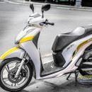 Tem xe Honda SH – Tem xe thiết kế Trắng ngọc trai chỉ vàng