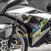 Tem xe Exciter 150 - 509 - Tem xe thiết kế MX Chrome xanh bạc