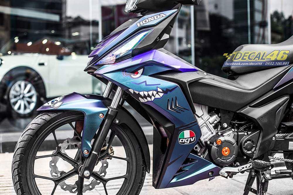 Tem xe Winner 150 - 400 - Tem xe Winner thiết kế Shark 2 titan