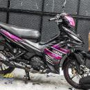 Tem xe Exciter 135 – 251 – Tem xe thiết kế Yamaha candy đen hồng
