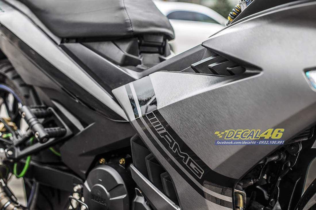 Tem xe Exciter 150 - 513 - Tem xe thiết kế AMG đen bạc xước