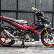 Tem xe Exciter 150 - 512 - Tem xe thiết kế Red Edition chrome đen đỏ