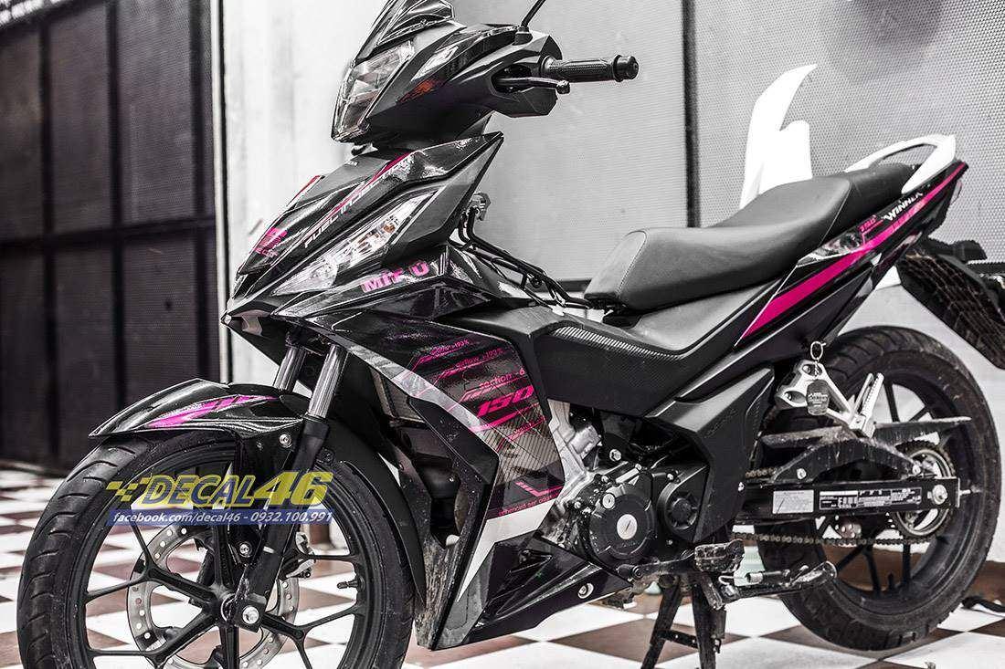 Tem xe Winner 150 - 407 - Tem xe Winner thiết kế VR46 hồng candy