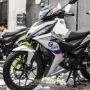 Tem xe Winner 150 – 403 – Tem xe Winner thiết kế BMW nhôm xước trắng