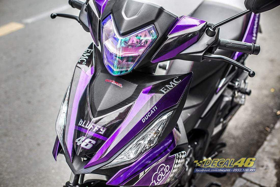 Tem xe Winner 150 - 404 - Tem xe Winner thiết kế Ducati đen tím