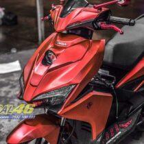 Tem xe Airblade 16 Honda - 087 - Tem xe thiết kế Đỏ xước