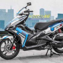 Tem xe Honda Airblade 125 - 068 - Tem xe thiết kế Petronas nhôm