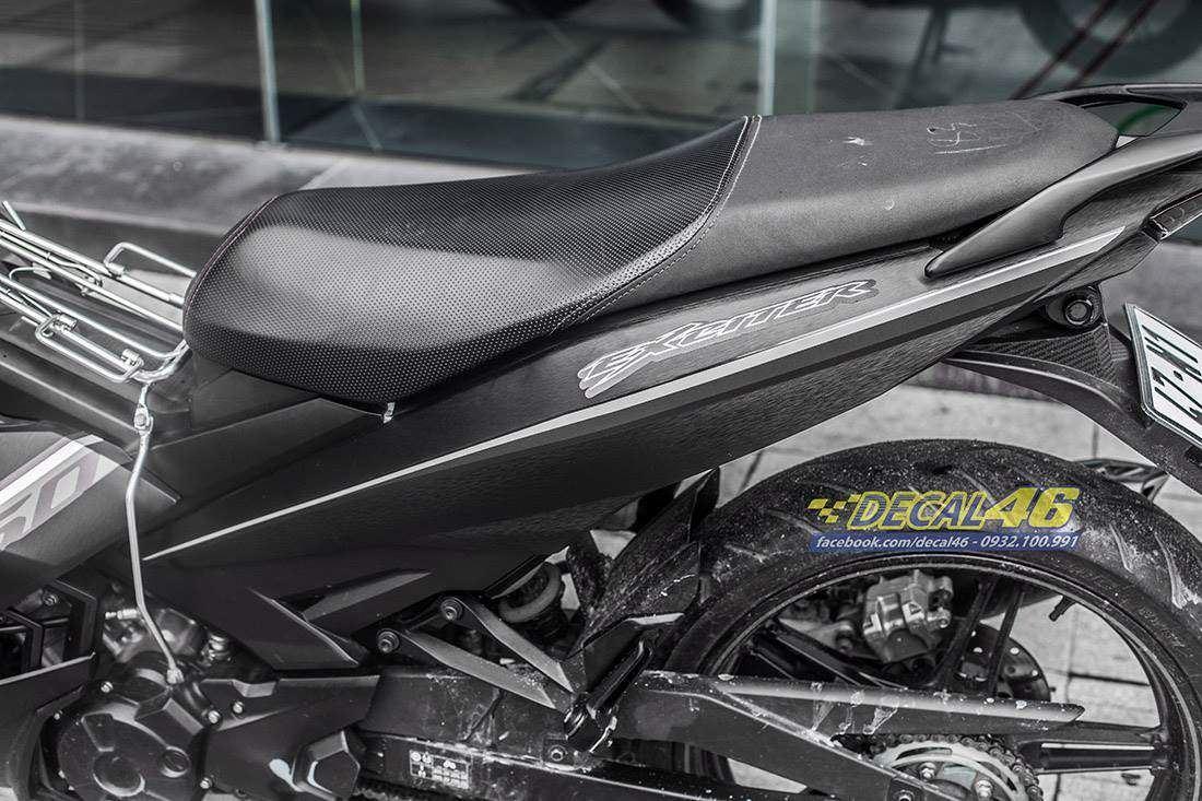 Tem xe Exciter 150 - 524 - Tem xe thiết kế Edition nhôm xám đen