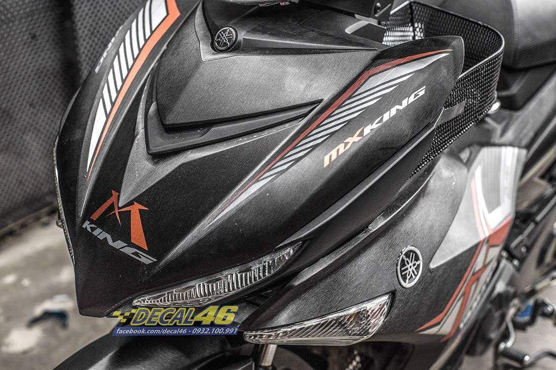 Tem xe Exciter 150 - 525 - Tem xe thiết kế MXKing cam đen xước