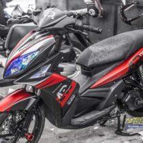 Tem xe Yamaha Nouvo - Tem xe thiết kế AP Performance nhôm đỏ đen
